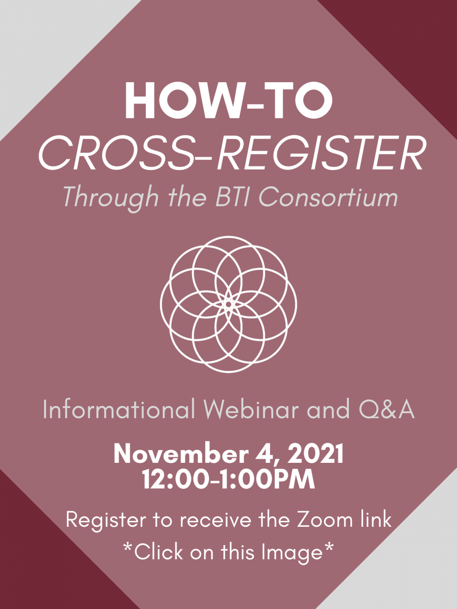 How to Cross Register Event flyer